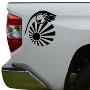 JDM Hand Grenade Rising Sun Japanese Die Cut Vinyl Decal Sticker For Car Truck Motorcycle Window Bumper Wall Decor Size- [8 inch/20 cm] Tall Colour- Gloss Black