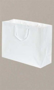 Large White Glossy Euro Tote Bag 41cm x 15cm x 30cm Case of 100