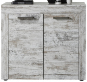 Trendteam 1276-878-68 River Chest of Drawers Buffet Pine Style Shabby Chic Retro White LxHxD 95 x 89 x 41 cm