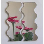 Wavey Mirror Pair - 60cm x 25cm