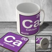 MAC_ELEM_045 (20) Calcium - Ca - Element from Periodic Table - Mug and Coaster set
