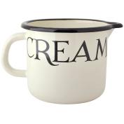 "EMMA BRIDGEWATER Black Toast - 12cm/1L Measuring Jug Black & White Enamel ""Cream & Milk"""