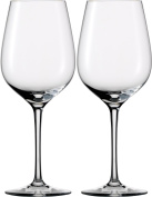 Eisch 2 Red Wine Glasses 500/2 Sensis Plus Decorative Miro Gift Set with Glass Cleaning Cloth
