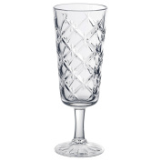 IKEA FLIMRA - Champagne glass Clear glass/patterned