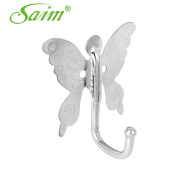 Saim Butterfly Style Stailess Steel Wall Mounted Hook Hanger for Clothes Coat Hat Towel