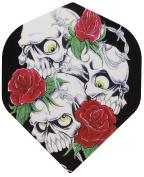 Skull and Roses Standard Shaped Darts Flights