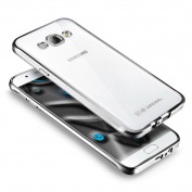 Galaxy A7 2016 Case,Galaxy A7 2016 Cover, Ukayfe [Electroplating Technology] Shock-Absorption Clear TPU Back Panel ,Extreme Lightweight Transparent Soft Flexible Silicone Rubber Anti-Scratch Bumper Protective Case For Samsung Galaxy A7 2016- Silver