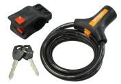 Rolson Bicycle Lock 1200 x 10 mm - Black