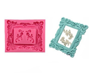 Large Retro photo frame silicone fondant mould Cake Decoration Mould Candy Chocolate Mould By Palker sky