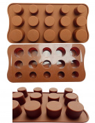 ADS Silicone Chocolate Mould - Plain Circle - 15 Cavities - 3 Sizes