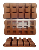 ADS Silicone Chocolate Mould - Square - 15 Cavities - 3 Sizes