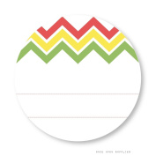 Once Upon Supplies Fiesta Chevron Stripes Labels with Blank Space, 5.1cm , 40 Pcs