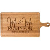 Personalised Cherry Cutting board Mr & Mrs Wedding Gift ideas for Him Her Couple Cheese Chopping Board established signs with dates by Dayspring Milestones
