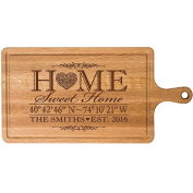 Personalised Cherry Cutting board Home Sweet Home Wedding Gift ideas for Him Her Couple Cheese Chopping Board established signs with dates by Dayspring Milestones