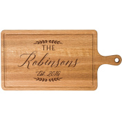 Personalised Cherry Cutting board with Family Last Name Wedding Gift ideas for Him Her Couple Cheese Chopping Board established signs with dates by Dayspring Milestones
