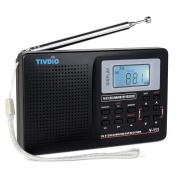 Tivdio V-111 Portable DSP Radio FM MW SW World Band Receiver with Digital Alarm Clock and Sleep Timer