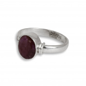 Shraddha Shree Gems Certified Natural 925 Sterling Silver Ruby Birth stone (Capricorn, cancer, Scorpio) Finger Ring for Unisex