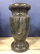 Tropical Green Granite Monument Flower Vase 12x5.5-A