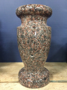 Indian Mahogany Monument Flower Vase 12x5.5-A