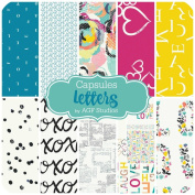 Capsules - Letters - 10 Half Yard Bundle (AG.LE.10HY) by Art Gallery Fabrics