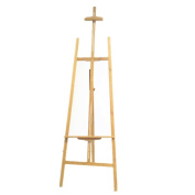 LongGM Bamboo Easel Adjustable Natural Bamboo Easel with Tilt