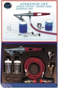 Paasche Model HS-202S Single Action Airbrush Set with Metal Handle
