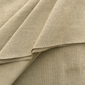 Made in USA Premium Quality 100% Cotton Jersey Fabric By The Yard - Khaki - 1 Yard