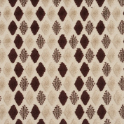 Beige and Mocha Soft Velvet Tufted Diamond Pattern Upholstery Fabric by the yard