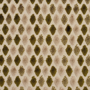Beige and Dark Green Soft Velvet Tufted Diamond Pattern Upholstery Fabric by the yard
