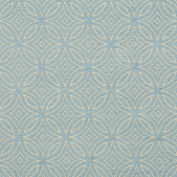 Aqua and Light Blue Abstract Geometric Trellis Chenille Upholstery Fabric by the yard