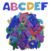 eBoot Glitter Foam Stickers Letter Sticker Self Adhesive Letters, Assorted Colours, 5 Sets
