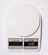 Postal Scale, Digital Gramme, White, Capacity 2000 G X 0.5 G