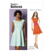 Butterick Patterns B6053 Misses' Dress Sewing Template, Size B5 (8-10-12-14-16) by McCall Pattern Company