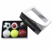 Crestgolf 6pcs Novelty Practise Golf Balls with Gift Box