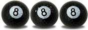 Eight Ball Golf Balls 3 Pack with a White, full wrap, imprint