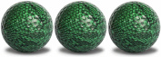 Snakeskin Golf Balls Green 3 Pack with a black, full wrap, imprint