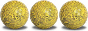 Snakeskin Golf Balls Yellow 3 Pack with a black, full wrap, imprint.