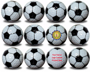 Custom Printed Soccer Ball Golf Balls 12 Pack Upload Your Logo or Text