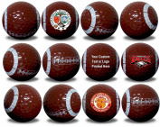 Custom Printed Football Golf Balls 12 Pack Upload Your Logo or Text