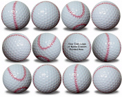 Custom Printed Baseball Golf Balls 12 Pack Upload Your Logo or Text