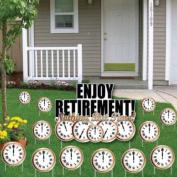 Enjoy Retirement! Nothing But Time! Yard Card- Retirement Clocks