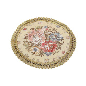 2 Pcs Small Round Placemats Embroidery Table Placemats Modern Placemats