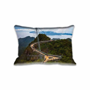Langkawi Sky Bridge Malaysia Pillow Covers Protector Two Sides Standard Zippered Pillowcase Pillow Sham 20x30inche for kids New Year Gift