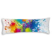 50cm x 140cm Body Pillowcase Watercolour Painting Silky Shiny Satin Maternity Pregnancy Long Body Pillow Cover