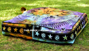 """Sun & Moon Tie Dye Square Floor Pillow Large Ottoman Pouffe Cover By """"Handicraftspalace"""" , Hippie Indian Seating Daybed Throw Sofa Cushion Cover Outdoor Dog Bed 90cm X 90cm"""