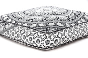 Elephant Mandala Floor Pillow Indian Square Ottoman Pouffe Large Meditation Pillow Oversized Outdoor Bed 35 x 35x Inch