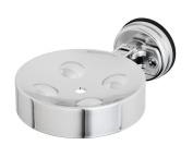 FECA FE-B4008 Heavy Duty Suction Cup Soap Sponge Dish Holder Chrome Finish,
