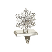 Sterling Silver Plated Snowflake Christmas Stocking Holder