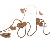 Primitive 1.8m Long Dangling Rusty Heart Wire Garland for Indoor and Outdoor Decor- Package of 4 Garlands