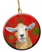 Goat Candy Cane Holiday Christmas Ceramic Ornament RDR3024CO1